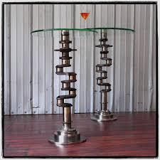 martini side table airplane engine aviation art crankshaft industrial martini