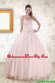 light pink quince dresses 2015 lovely light pink beading quinceanera dresses 188 94