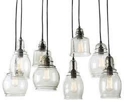 Multi Pendant Lighting 3 Light Round Glass Shade Multi Pendant Light For Living Room