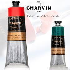 charvin extra fine artists u0027 acrylics professional acrylic paints