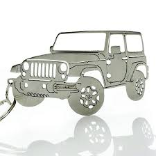 jeep wrangler front drawing amazon com key chain for jeep enthusiasts detailed jk jku