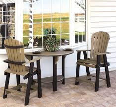 Bar Stool Table Sets Amish Poly Patio Bar Set From Dutchcrafters Amish Furniture