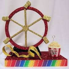 Carnival Themed Table Decorations Carnival Swing Centerpiece Looks Like A Carnival Ride Diy Kits