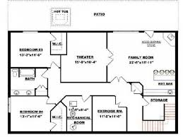 ranch floor plans with walkout basement house plan bungalow with basement house plans streamrr com
