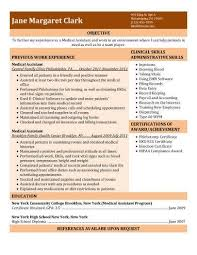 Free Dental Assistant Resume Templates Medical Assistant Resume Template Free Resume Template And