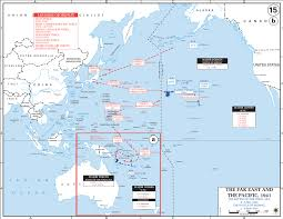 Sea World Map Map Of The Battle Of The Coral Sea And The Battle Of Midway 1942