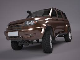 uaz hunter tuning uaz patriot off road version 2 3d model in van and minivan 3dexport
