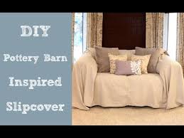 How To Measure Your Couch For A Slipcover Diy Pottery Barn Inspired Slipcover Youtube