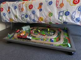 diy folding train table under bed table ideas