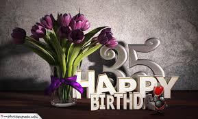 geburtstagsspr che 35 geburtstagsgruß 35 happy birthday mit tulpenstrauß
