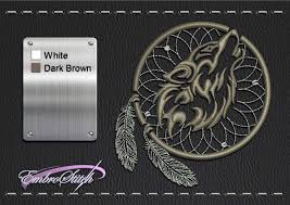 wolf dreamcatcher embroidery design 3 sizes 8 formats