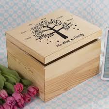 personalised keepsake box personalised family tree memory keepsake box