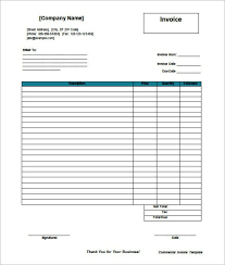 blank commercial invoice template in ms word templatezet