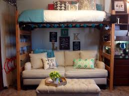Dorm Decorations Pinterest by I Like The Couch Under The Bunk It U0027s A Pretty Cool Setup