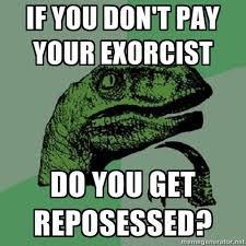 What If Dinosaur Meme - funny exorcist joke dinosaur funnies pinterest