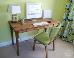 Build A Wooden Computer Desk by 13 Free Diy Desk Plans You Can Build Today
