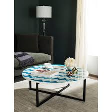 safavieh malone white coffee table fox2214a the home depot