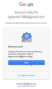 account recovery for android account locked out of your account page