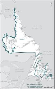 Newfoundland Map Final Report U2013 Newfoundland And Labrador Redistribution Federal