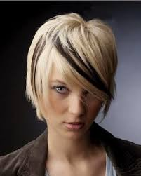 short brown hair with light blonde highlights different short prom hairstyles with pink highlights and bangs for