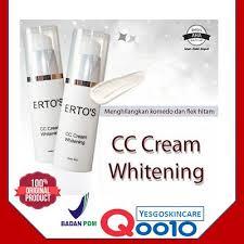 qoo10 ertos cc cream whitening original 30gr safe bpom cosmetics