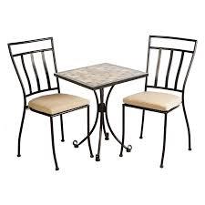 Outdoor Bistro Chair Cushions Square Flash Furniture Aluminum 3 Piece Outdoor Bistro Set Hayneedle