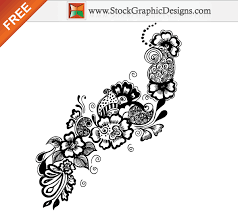 floral ornaments free vector graphics free