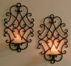 Metal Wall Sconces Wall Sconces Candles Wrought Iron Foter