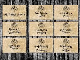 Harry Potter Map Table Cards Hogwarts Map Harry Potter Themed Horizontal
