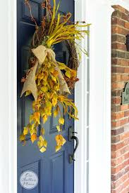 diy fall grapevine wreath on sutton place