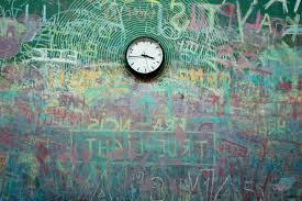colorful interior free picture clock wall graffiti time object art colorful