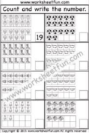 Grade 1 Counting To 20 Worksheets Numbers 1 20 Two Worksheets Preschool Worksheets