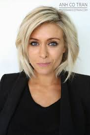 the blonde short hair woman on beverly hills housewives miami chic layered bob cut style anh co tran appointment