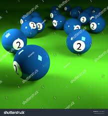 Blue Billiard Balls Number Two 3d Stock Illustration