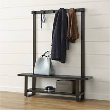 welkom hall tree bench with coat rack crate and barrel hall