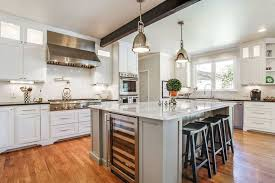 kitchen with black island and white cabinets white kitchen with gray island design ideas designing idea