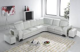 canap d angle blanc deco in canape d angle en cuir blanc avec appuie tete relax