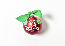 our first christmas glass ornament coton colors