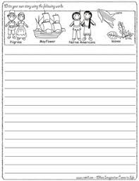 creative printable writing papers for thanksgiving happy