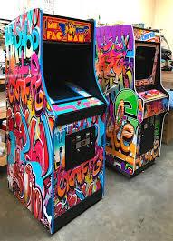 Ms Pacman Cabinet Ms Pac Man Arcade Game Rental Video Amusement San Francisco Bay