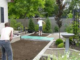 Ideas For Backyard Landscaping Outdoor Garden Backyard Landscaping Ideas With Lands And Plants