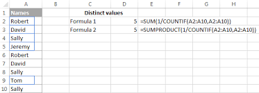 Count Number Of Words In Excel Count Unique Values Distinct Values In Excel With Formula Or
