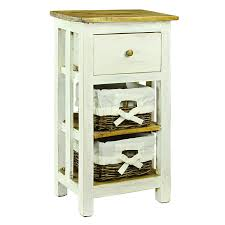 antique revival mirabelle storage tower white size 3 drawer