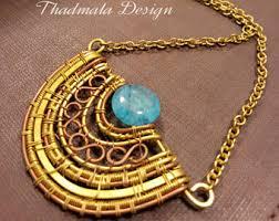 round stone necklace images Round stone necklace etsy jpg