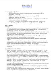 Maintenance Technician Resume Sample by Maintenance Technician Resume Sample Resumedoc