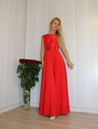 red maxi dress for cocktail party formal sleeveless prom wedding