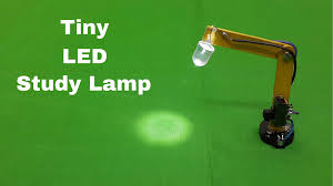 how to make a miniature tiny led study table lamp at home youtube