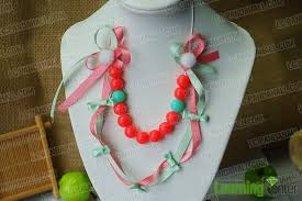 ribbon necklace making images How to make a hyper ribbon necklace with beads jpg