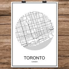Toronto Canada Map by Online Get Cheap Canada Wall Map Aliexpress Com Alibaba Group