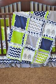 Navy Blue And Gray Bedding Elephant Baby Bedding Lime Green Navy Blue And Gray By A Vision